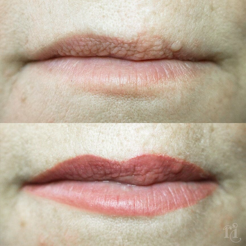 Healed lip blush - Scarred / Assymmetrical lips